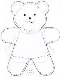 Resultado de imagem para ursinha em eva com.molde