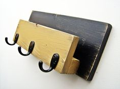 Mail Organizer Mail Holder With Key Hooks by BlueRidgeSawdust