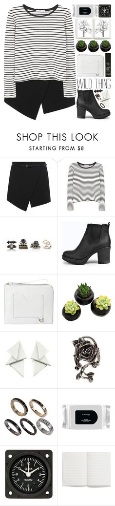 """""""Wild Thing"""" by heartart ❤ liked on Polyvore featuring Miss Selfridge, MANGO, Boohoo, Bellebas, Rodial, French Connection, MAC Cosmetics and Madewell"""