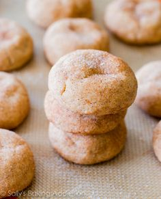 Soft & Thick Snickerdoodles. (Seriously the best snickerdoodle a... Maybe even cookies altogether... That I've ever made. Incredible)