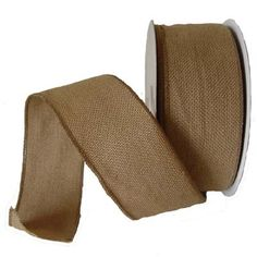"""2.5"""" Faux Burlap Wired Ribbon Natural www.trendytree.com $10.99"""