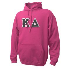 Campus Classics - Kappa Delta Dark Pink Hoodie with Sewn On Letters: $49.95