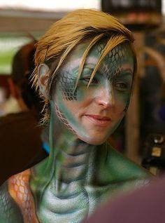 Reptile Body Paint | thatkellychic › Portfolio › Snake face