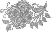 Gallery.ru / Фото #97 - Embroidery II - GWD Jacobean Embroidery, Crewel Embroidery, Cross Stitch Embroidery, Embroidery Stitches Tutorial, Embroidery Designs, Applique Patterns, Beading Patterns, Corset Sewing Pattern, Hamsa Design