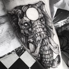 Elephant done in Germany a few moths ago #electricink