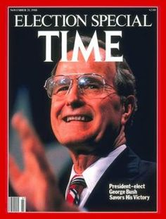 1988 – George H. W. Bush  Publish Date: Nov. 21, 1988  Cover Story: Color It Republican