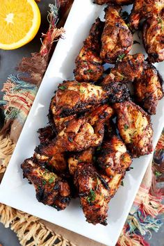Skip the takeout and make our Jamaican jerk version at home on the grill instead! Get the recipe on Foodal now. Jamaican Dishes, Jamaican Recipes, Jamaican Chicken, Jerk Chicken Wings, Chicken Gyros, Chicken Curry, Grilling Recipes, Cooking Recipes, Oven Recipes