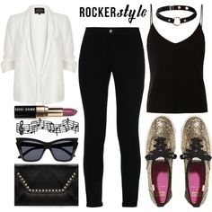 Rocker Style by alaria on Polyvore featuring T By Alexander Wang, River Island…