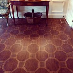 ✶ Painted Floors:  Dean Barger, is a master of creating amazing painted floors. Above, Dean utilizes a traditional geometric pattern for a David Easton interior.✶