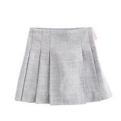 Girls' pleated flannel skirt