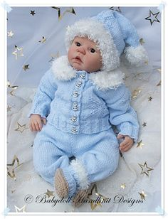 'Christmas Star' Outfit 19-22 inch doll/0-3m baby-