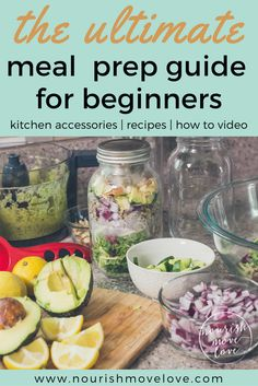 Ultimate meal prep guide to eat healthy all week. Clean and easy recipes; 3 breakfast meal prep recipes, 3 lunch meal prep recipes, 4 snack meal prep recipes.