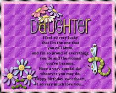 A sweet card for your daughter from a proud mum! Free online Happy Birthday To My Daughter ecards on Birthday Birthday Hug, Happy Birthday Daughter, Birthday Wishes Funny, Birthday Songs, Very Happy Birthday, Birthday Cards, Daughter Songs, To My Daughter, Happy Panda