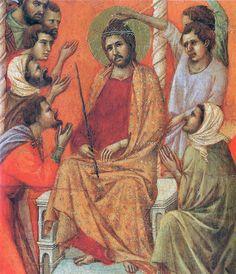 Duccio di Buoninsegna - Maestà - Retro - Incoronazione di spine, dettaglio - 1308-11 - Tempera e oro su tavola - Museo dell'Opera del Duomo, Siena