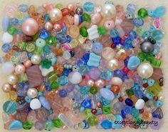 1/4 Lb Pound Preciosa Czech Glass Soft Pastel Pink Blue Spring Fling Bulk Beads #PreciosaJabonexCulturaNacreOrnella #PressedBohemianFirePolishedRocailleSeedPearl