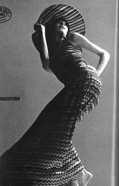 Anjelica Huston for Missoni, photographed by Alfa Castaldi, 1971