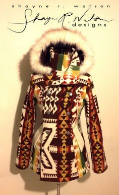 Watson Designs Brown lined Pendleton Jacket Native American Clothing, Native American Fashion, Native Fashion, Western Outfits, Western Wear, Cowgirl Outfits, Western Dresses, Pendleton Clothing, Cowgirl Style