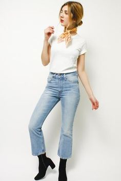 The most badass cropped boot cut! Sitting high at your waist, these jeans hug your shape and lengthen your silhouette with a classic boot cut shape. They're cropped right at the ankle -100% Cotton **N