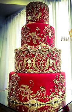 Many individuals don't think about going into company when they begin cake decorating. Many folks begin a house cake decorating com Wedding Cake Red, Indian Wedding Cakes, Wedding Cake Decorations, Elegant Wedding Cakes, Beautiful Wedding Cakes, Gorgeous Cakes, Wedding Cake Designs, Pretty Cakes, Amazing Cakes