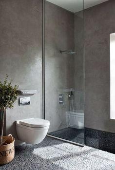 Harmaa kylpyhuone   Kauniit neliot