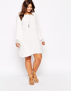 Enlarge Alice & You Swing Dress With Crochet Sleeves