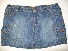 """Plus Size 26W Denim Cargo SKORTS 48"""" W Cotton Tennis Golf Short Skirt Skort #FadedGlory #Skorts"""