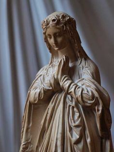 Virgin Mary Statue French Antique Religious Art by GliciniaANTIC