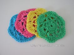 Crochet Cotton Coasters - 4 - The Supermums Craft Fair