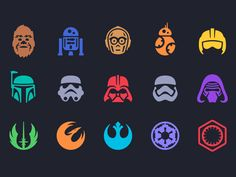 Star Wars Icons by Louie Mantia These are great! - Star Wars Tee - Fashionable Star Wars Tee - Star Wars Icons by Louie Mantia These are great! Theme Star Wars, Star Wars Day, Star Trek, Star Wars Icons, Star Wars Characters, Star Wars Logos, Star Wars Tattoo, Citations Star Wars, Stormtroopers