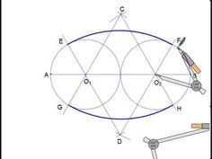 Drawing an oval with a compass and no string (very simple) - Jigging Woodworking Techniques, Woodworking Jigs, Woodworking Projects, Geometry Art, Sacred Geometry, Geometric Designs, Geometric Shapes, Bric À Brac, Sheet Metal Work