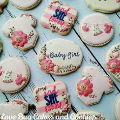 Floral Baby Shower   Cookie Connection