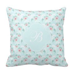 Rest your head on one of Zazzle's Blue Floral decorative & custom throw pillows. Floral Throws, Floral Throw Pillows, Decorative Throw Pillows, Monogram Pillows, Pastel Blue, Girly, Elegant, Women's, Classy