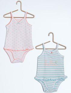 Pack de 2 bodis de tirantes finos                                                     rosa Bebé niña   - Kiabi