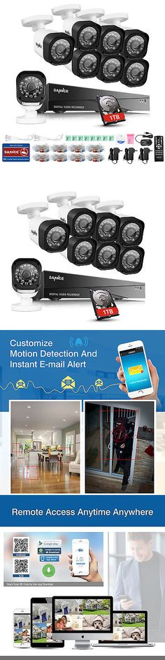 Security Cameras: Sannce 8Ch 1080N Dvr Video 1500Tvl Weatherproof Cctv Security Camera System 1Tb -> BUY IT NOW ONLY: $166.49 on eBay!