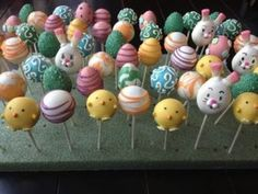 Easter Cake Pops- how to make round cake pops that don't crack.