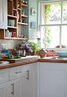 Lucy Dunce, British Isle Ceramicist, Edinburgh home, kitchen | Remodelista
