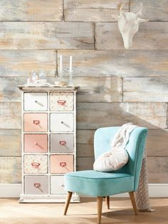 Shabby Chic Wall Mural from Wall Rehab: Temporary Wallpaper and Decals on Gilt