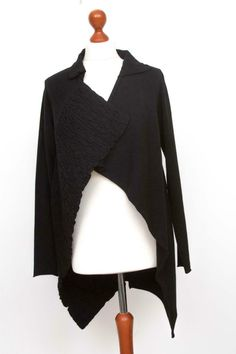Damen SARAH PACINI Black Lagenlook Open Front Cardigan Size One Size   eBay Masai Clothing, Sarah Pacini, Odd Molly, Zadig And Voltaire, Open Front Cardigan, Wool Cardigan, Clothing Company, Wool Blend, Black And Brown