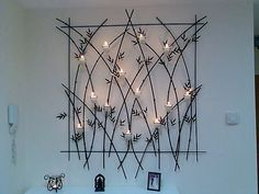 Wall candle arrangement