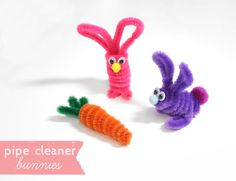 """Lines Across"": How to Make Pipe Cleaner Bunnies"