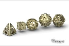 steampunk dice set - love the details. omg i wan!!!