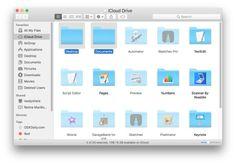 iCloud Drive Desktop og Dokumenter mapper