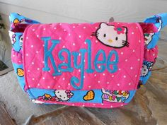 Hey, I found this really awesome Etsy listing at https://www.etsy.com/listing/125859086/hello-kitty-quilted-baby-doll-diaper-bag