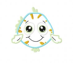 APPLIQUE FISH Machine Embroidery Design in 2 sizes - Instant Download - by TedandFriends on Etsy