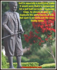 Bobby Jones, an American amateur golfer, and a lawyer by profession. Jones founded and helped design the Augusta National Golf Club, and co-founded the Masters Tournament. #golffacts #lorisgolfshoppe