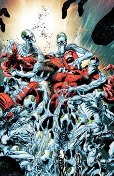 Cover art to Red Lanterns #14, by Miguel Sepulveda & Rain Baredo
