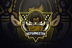 Boygangster - Mascot & Esport Logo by aqrstudio on Envato Elements Game Logo Design, Logo Design Template, Logo Templates, Nerd, Envato Elements, Esports Logo, Animal Logo, Creative Logo, Cool Logo
