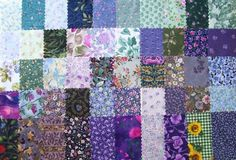 Floral Medley - Cool Colors - 42 - 5 inch Squares - Quilt Fabric | FabricalaCarteII - Craft Supplies on ArtFire