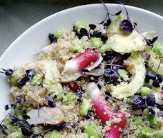 Avocado, quinoa and broad bean salad by Yotam Ottolenghi from Plenty