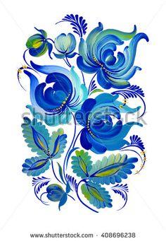 * 1вао05 петриковка * One Stroke Painting, Tole Painting, Fabric Painting, Painting On Wood, Russian Folk Art, Ukrainian Art, Polish Tattoos, Polish Folk Art, Mural Art